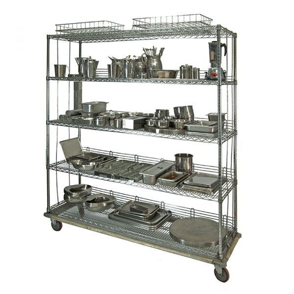 chariot items inox, bloc opératoire