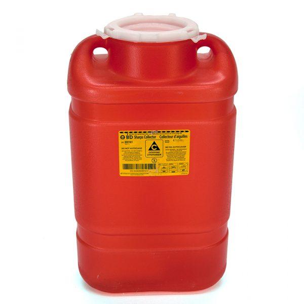 Contenant biohazard rouge