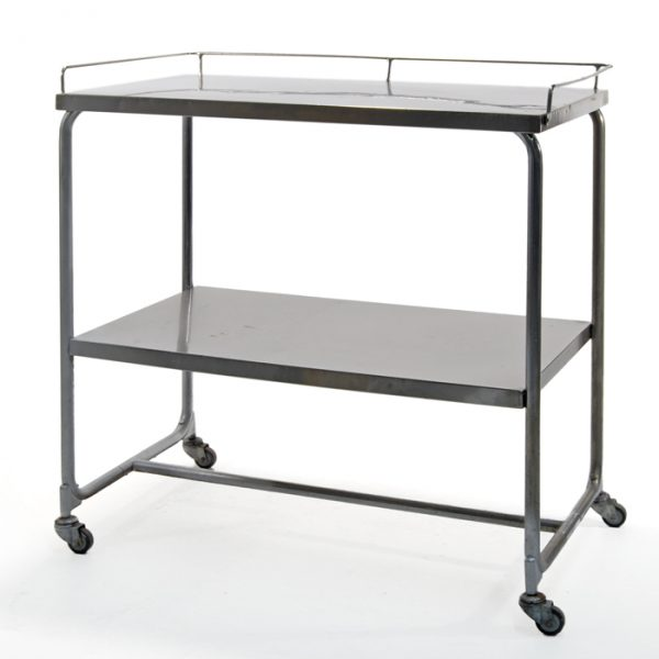Table mobile inox #0385A | L36 x P20 x H38 po | qté 1