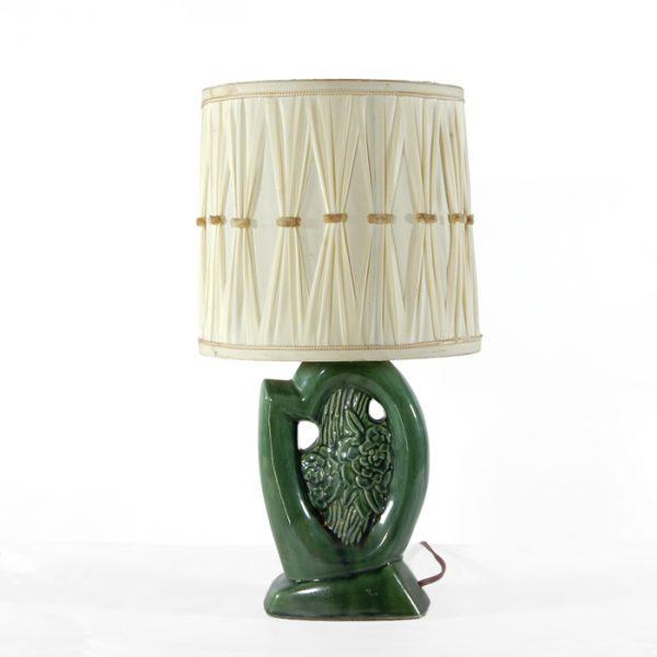 Lampe de table verte #1704A   L9 x P9 x H19 po   qté 1