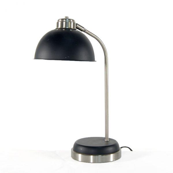 Lampe noire et argent #1727A   L12 x P6 x H18 po   qté 3