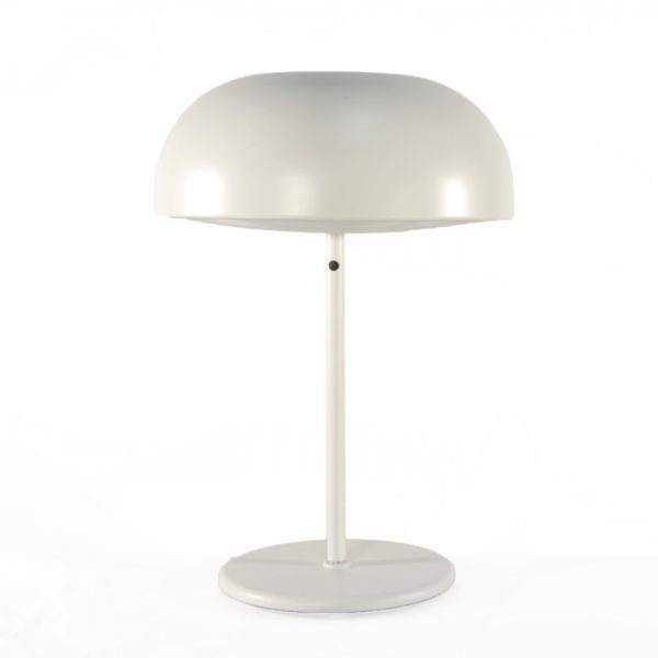 Lampe blanche de bureau #1738A   L14 x P9 x H22 po   qté 2