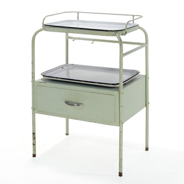 Table metal antique #0381A | L16 x P20 x H35 po | qté 1